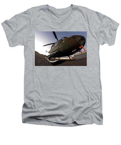 Men's V-Neck T-Shirt featuring the photograph Wide by Paul Job