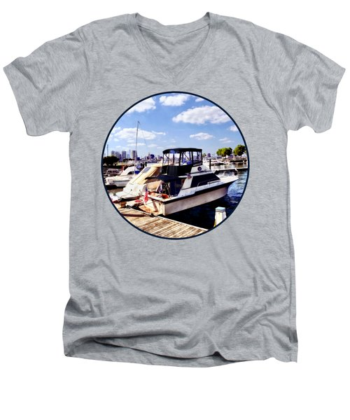 Wiggins Park Marina Men's V-Neck T-Shirt