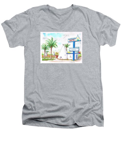 Wigman Motel, Route 66, San Bernardino, Ca Men's V-Neck T-Shirt