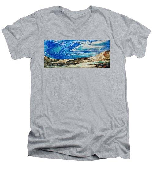 Wiinter At The Beach Men's V-Neck T-Shirt