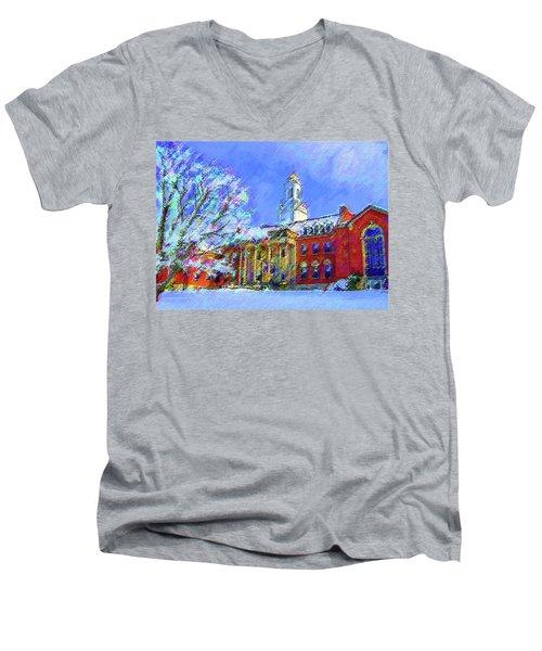Wilbur Library  Uconn Men's V-Neck T-Shirt