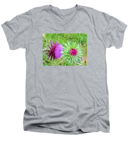 Wild Beauty In The Meadow Men's V-Neck T-Shirt