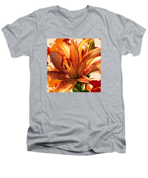Wild Beauty With Freckles Men's V-Neck T-Shirt