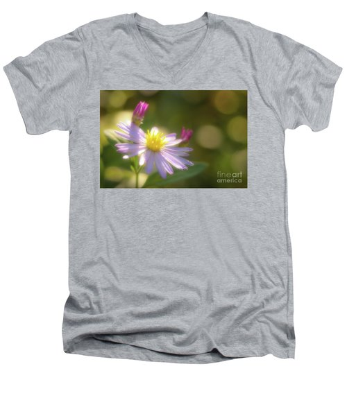 Wild Chrysanthemum Men's V-Neck T-Shirt by Tatsuya Atarashi