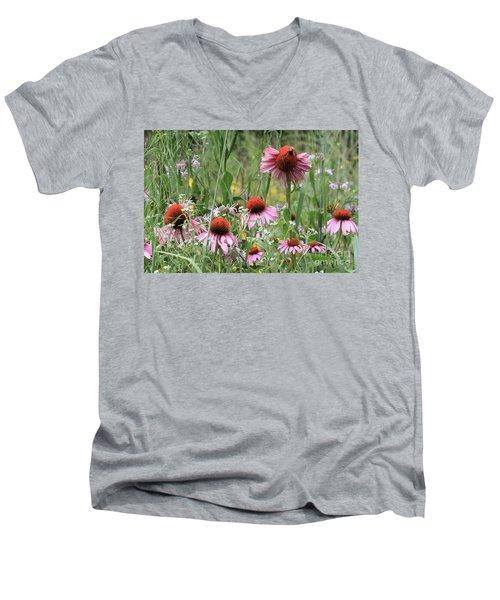 Wild Coneflowers Men's V-Neck T-Shirt