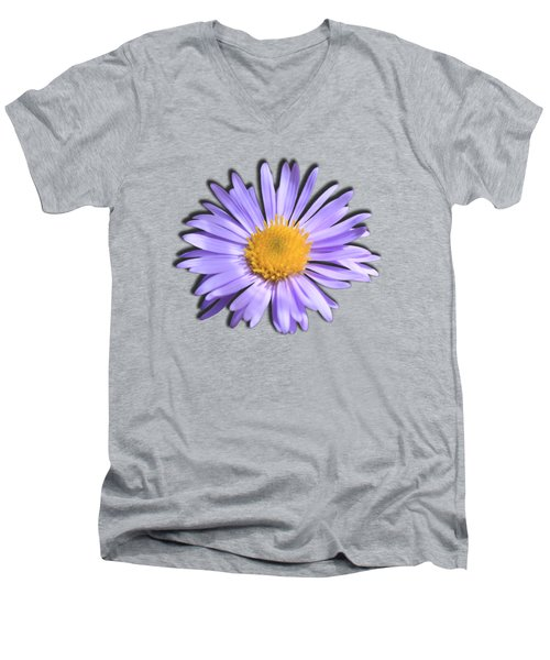 Wild Daisy Men's V-Neck T-Shirt by Shane Bechler