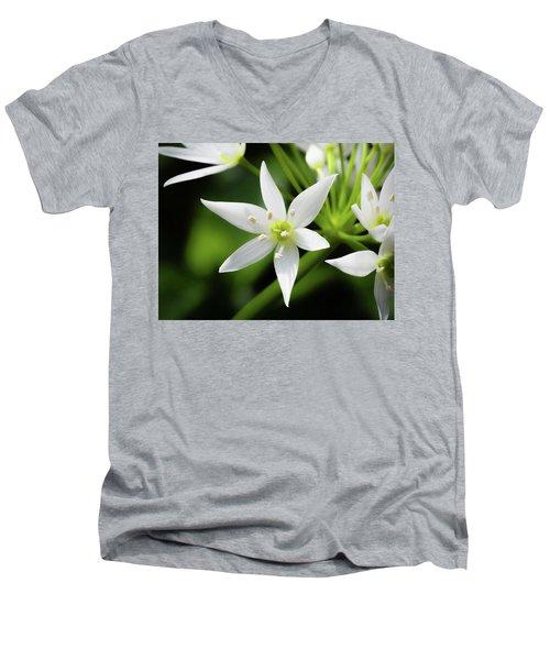 Wild Garlic Flower Men's V-Neck T-Shirt