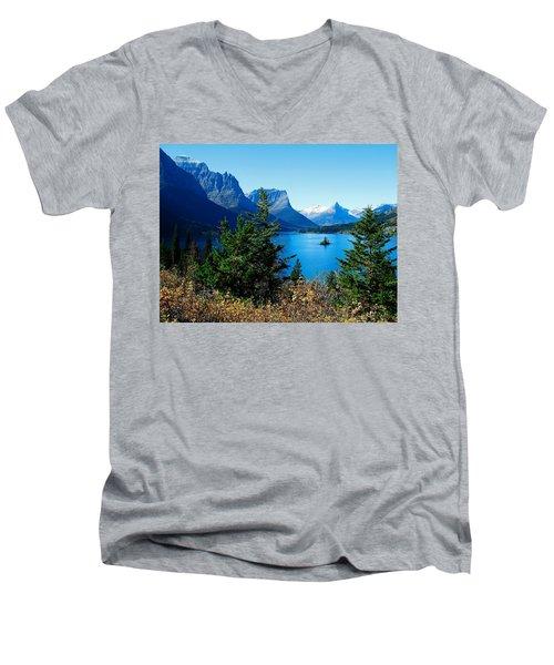 Wild Goose Island In The Fall Men's V-Neck T-Shirt