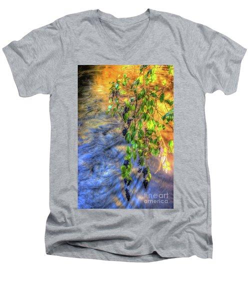 Wild Grapes Men's V-Neck T-Shirt