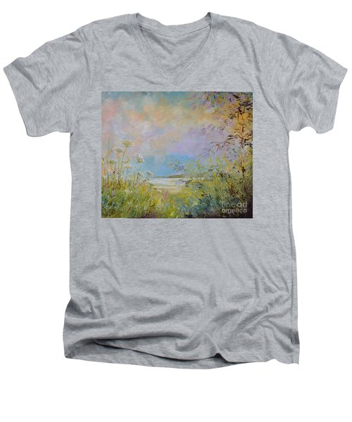 Wild Grasses Of Saugatuck Men's V-Neck T-Shirt