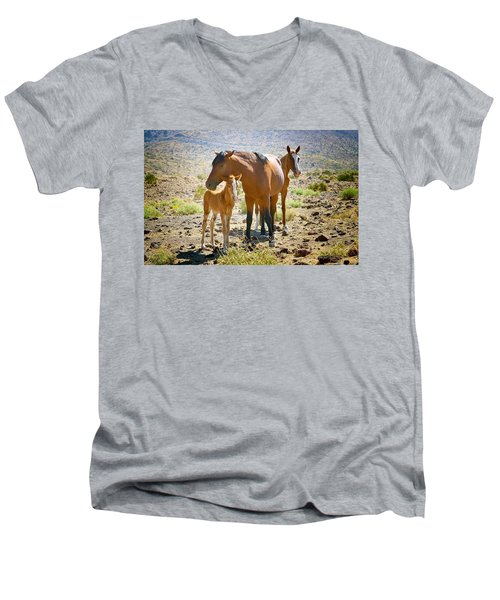Wild Horse Family Men's V-Neck T-Shirt