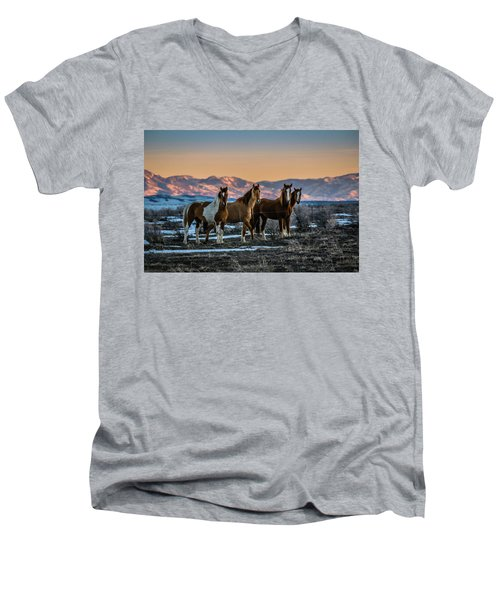 Wild Horse Group Men's V-Neck T-Shirt