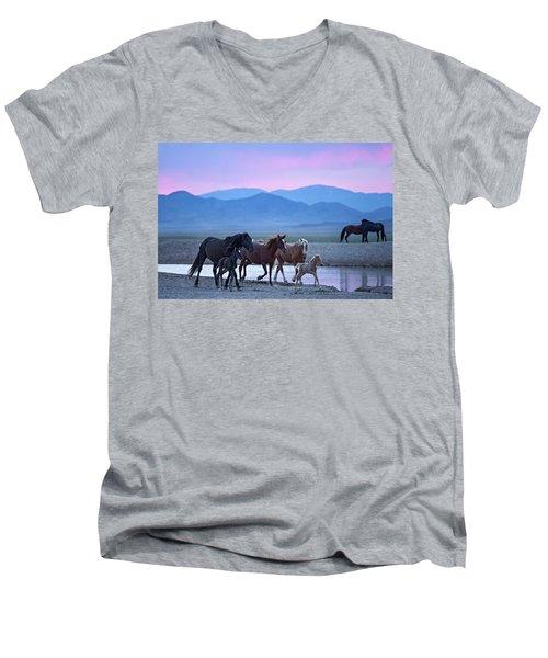Wild Horse Sunrise Men's V-Neck T-Shirt