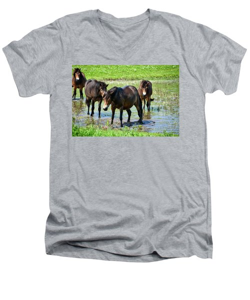 Wild Horses 4 Men's V-Neck T-Shirt