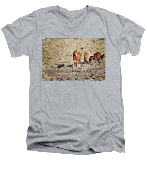 Wild Horses Men's V-Neck T-Shirt