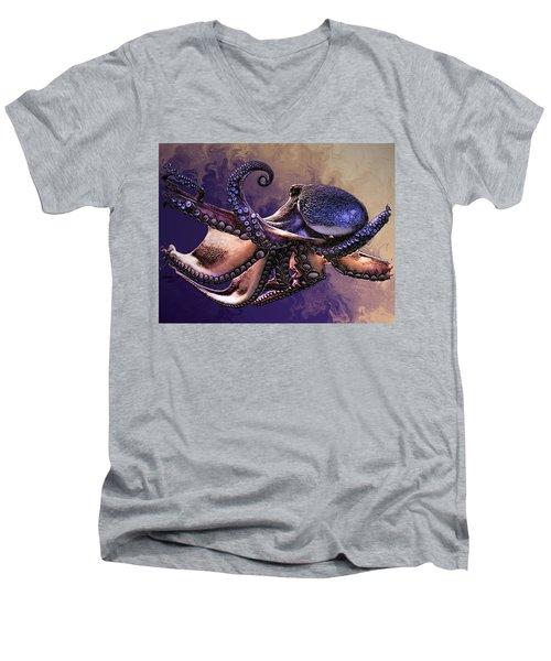 Wild Octopus Men's V-Neck T-Shirt
