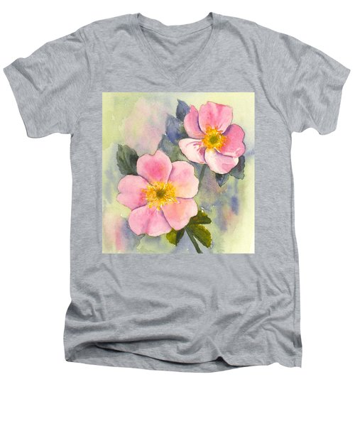 Wild Roses - Glacier Men's V-Neck T-Shirt