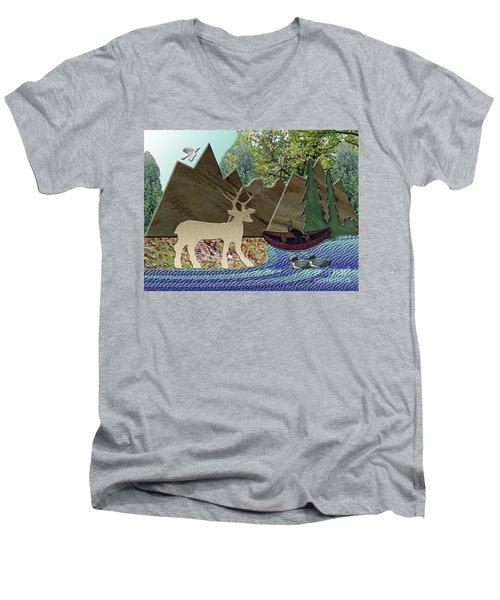 Wild Rural Animals Men's V-Neck T-Shirt
