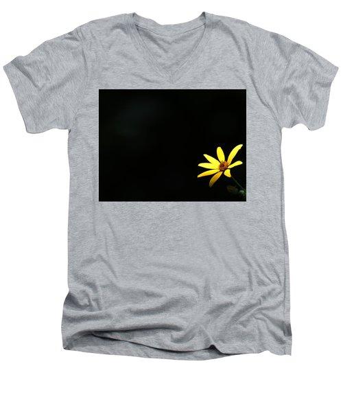 Wild Sunflower Stony Brook New York Men's V-Neck T-Shirt by Bob Savage