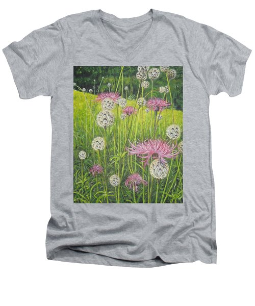 Wild Thistles Men's V-Neck T-Shirt