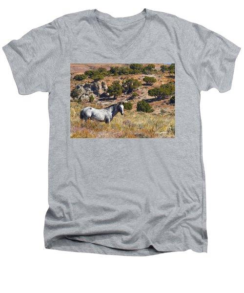 Wild Wyoming Men's V-Neck T-Shirt