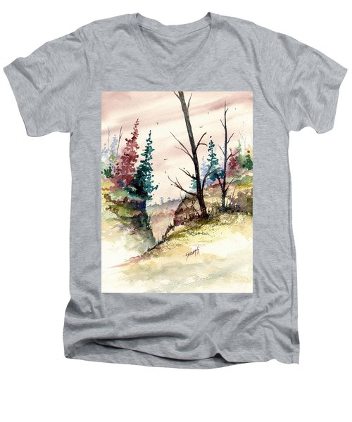 Wilderness II Men's V-Neck T-Shirt by Sam Sidders