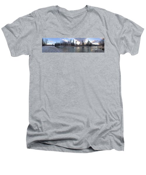 Men's V-Neck T-Shirt featuring the photograph Wilderness by Victor K