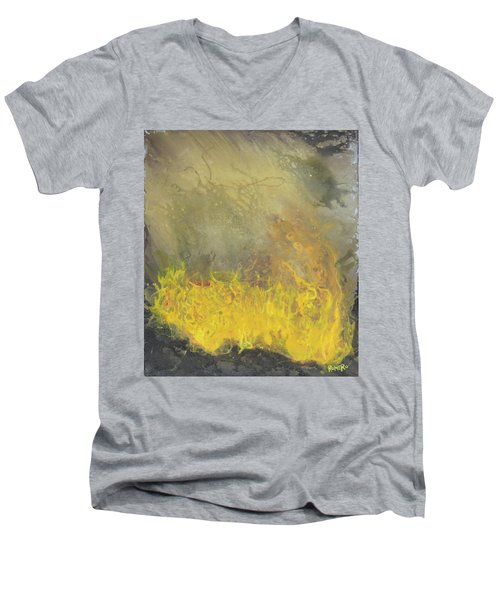 Wildfire Men's V-Neck T-Shirt by Antonio Romero