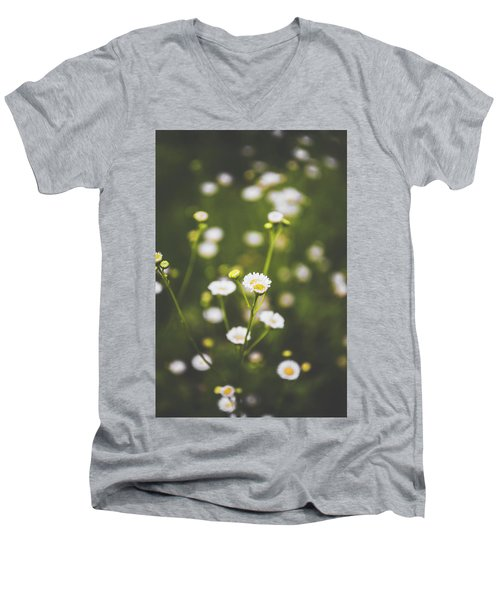 Men's V-Neck T-Shirt featuring the photograph Wildflower Beauty by Shelby Young