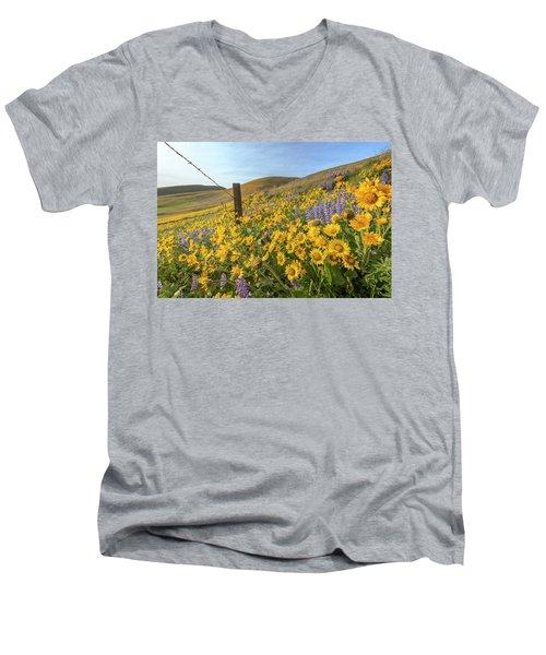 Wildflower Bonanza Men's V-Neck T-Shirt
