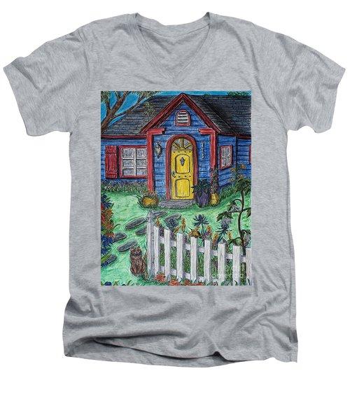Wildflower Cottage Men's V-Neck T-Shirt