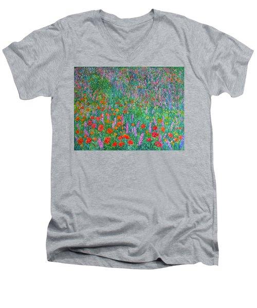 Wildflower Current Men's V-Neck T-Shirt