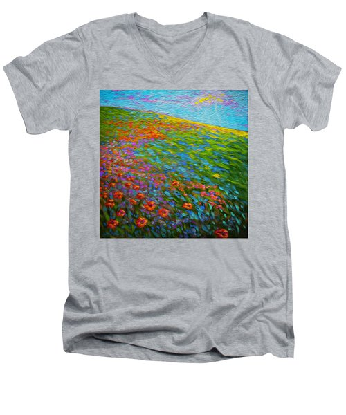 Wildflower Pastoral Men's V-Neck T-Shirt
