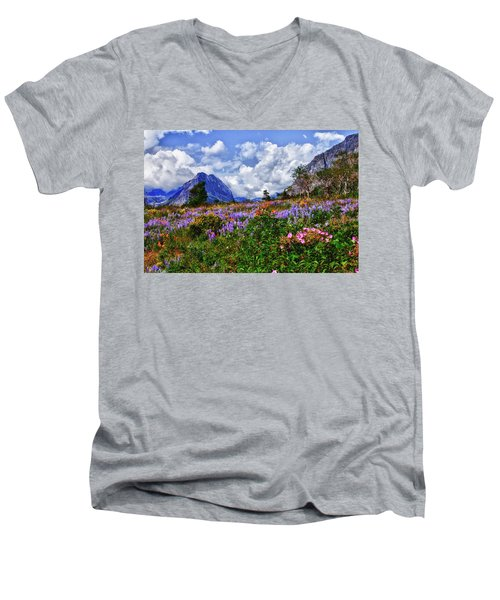 Wildflower Profusion Men's V-Neck T-Shirt