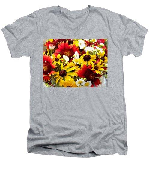 Wildflower Riot Men's V-Neck T-Shirt