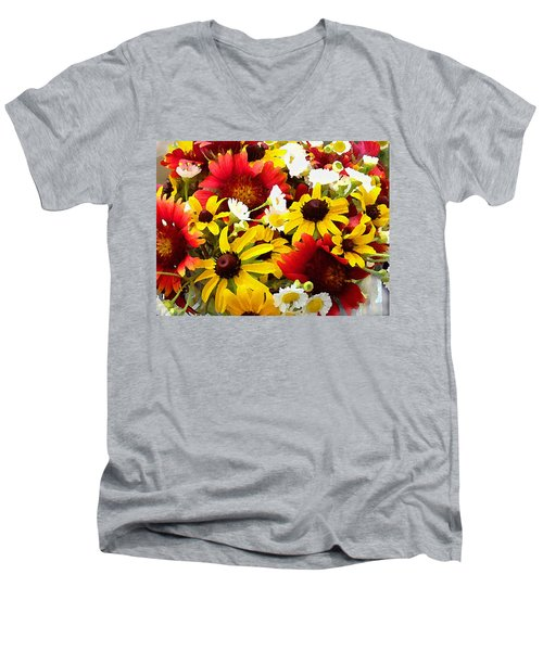 Wildflower Riot Men's V-Neck T-Shirt