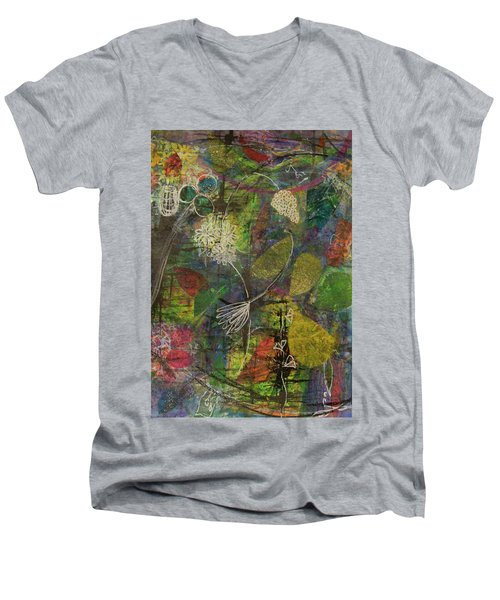 Wildflower Two Men's V-Neck T-Shirt