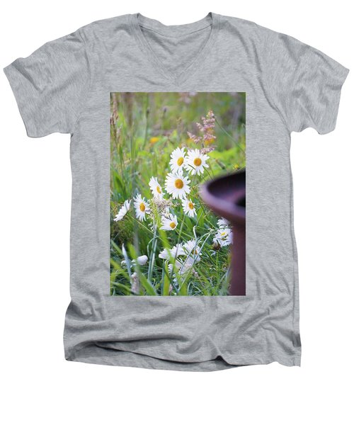 Men's V-Neck T-Shirt featuring the photograph Wildflowers by Angi Parks