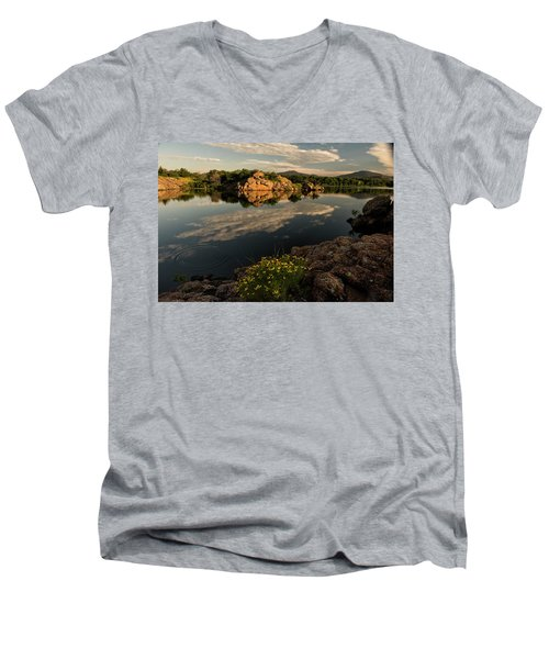 Wildflowers At The Lake Men's V-Neck T-Shirt