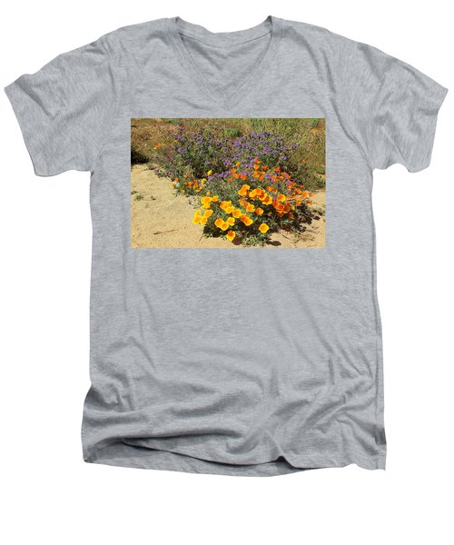 Wildflowers In Spring Men's V-Neck T-Shirt by Viktor Savchenko