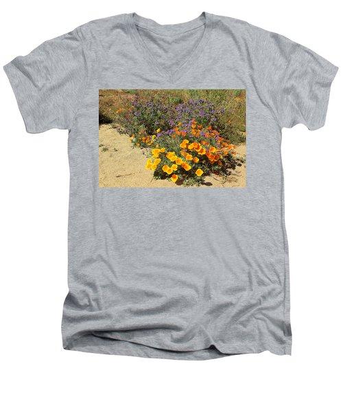 Wildflowers In Spring Men's V-Neck T-Shirt by Viktor Savchenko