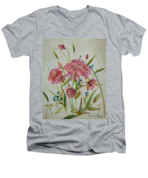 Wildflowers Men's V-Neck T-Shirt by Judith Rhue