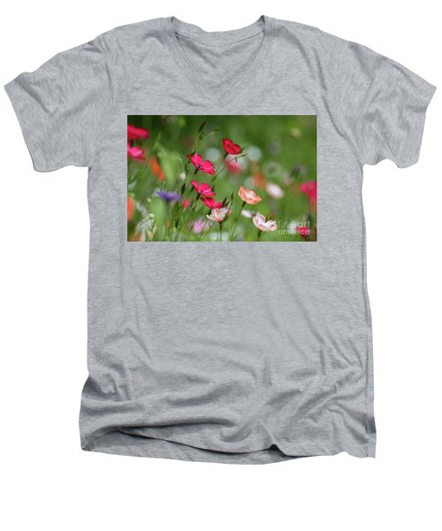 Wildflowers Meadow Men's V-Neck T-Shirt