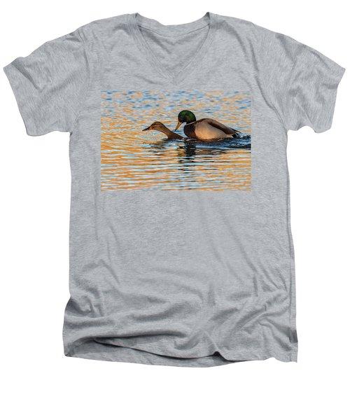Wildlife Love Ducks  Men's V-Neck T-Shirt