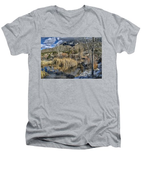 Men's V-Neck T-Shirt featuring the photograph Wildlife Water Hole by Alan Toepfer