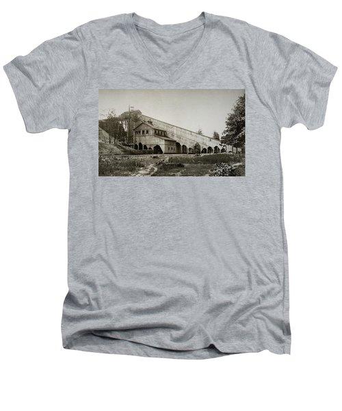 Wilkes Barre Twp Pa Empire Number 5 Coal Breaker 1880 Lehigh And Wb Coal Co. Men's V-Neck T-Shirt