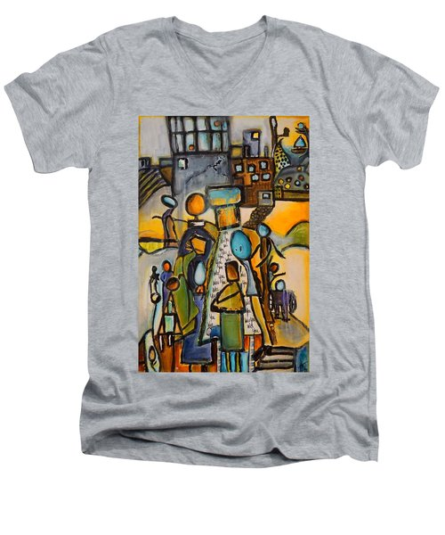 Will You Men's V-Neck T-Shirt by Theresa Marie Johnson