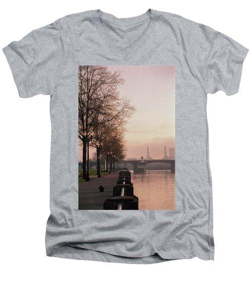 Willamette Riverfront, Portland, Oregon Men's V-Neck T-Shirt