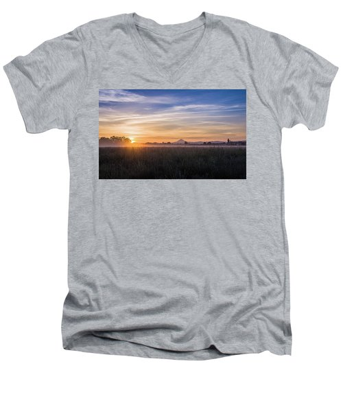 Willamette Valley Sunrise Men's V-Neck T-Shirt