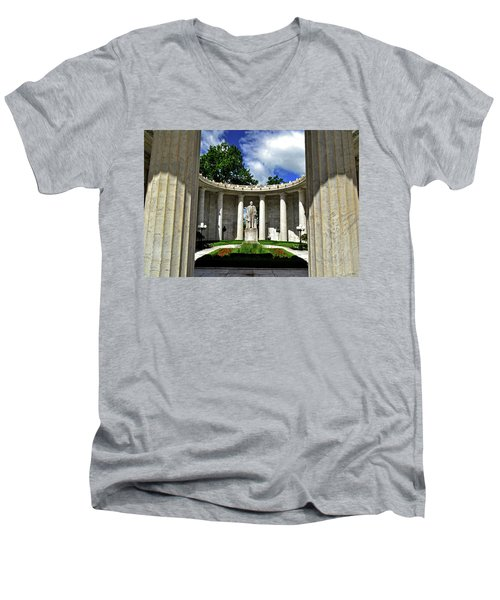 Men's V-Neck T-Shirt featuring the photograph William Mckinley Memorial 002 by George Bostian